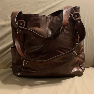 Relic Brown Leather Handbag
